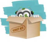 robot vector cartoon character design - Shape12