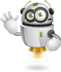 robot vector cartoon character - robot vector cartoon character design goodbye