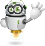 robot vector cartoon character - robot vector cartoon character design hello