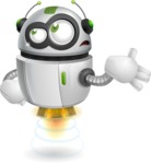 robot vector cartoon character - Bored