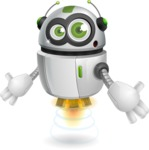 robot vector cartoon character - Shocked