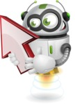 robot vector cartoon character - Arrow