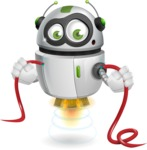 robot vector cartoon character - Cable