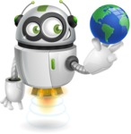 robot vector cartoon character design - Rory AeRobot - GraphicMama Best Seller  - robot vector cartoon character design globe earth world