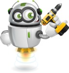 robot vector cartoon character - Workman 1