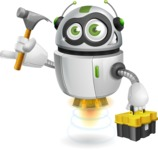 robot vector cartoon character design - Workman 2