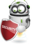 robot vector cartoon character - Security 2