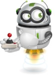 robot vector cartoon character - robot vector cartoon character design play joystick console