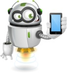 robot vector cartoon character - robot vector cartoon character design smartphone iphone
