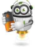 robot vector cartoon character - robot vector cartoon character design - power energy battery