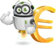 robot vector cartoon character - robot vector cartoon character design money euro currency