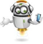 robot vector cartoon character - Support