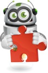 robot vector cartoon character - Puzzle