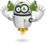 robot vector cartoon character - Listen