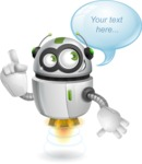 robot vector cartoon character - robot vector cartoon character design speach bubble