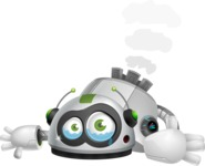 robot vector cartoon character - Under Construction