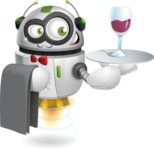 robot vector cartoon character design - robot vector cartoon character design waiter