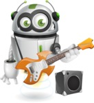 robot vector cartoon character - Musician