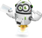 robot vector cartoon character design - Printer