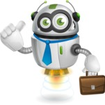 robot vector cartoon character - robot vector cartoon character design businessman