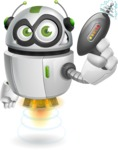 robot vector cartoon character - Gun 1