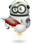 robot vector cartoon character - Gun 2