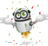 robot vector cartoon character - Celebrate