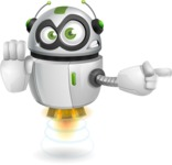 robot vector cartoon character - Direct Attention