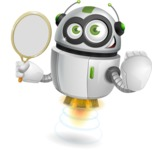 robot vector cartoon character - Tennis 2
