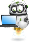 robot vector cartoon character - Laptop 3