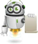 robot vector cartoon character - Sign 1