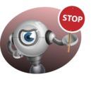 Futuristic Robot Cartoon Vector Character AKA GAR-Y - Shape4