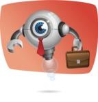 Futuristic Robot Cartoon Vector Character AKA GAR-Y - Shape5