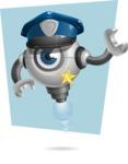 Futuristic Robot Cartoon Vector Character AKA GAR-Y - Shape6