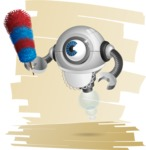 Futuristic Robot Cartoon Vector Character AKA GAR-Y - Shape7