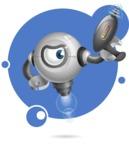 Futuristic Robot Cartoon Vector Character AKA GAR-Y - Shape8