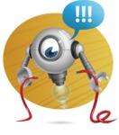 Futuristic Robot Cartoon Vector Character AKA GAR-Y - Shape9