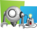 Futuristic Robot Cartoon Vector Character AKA GAR-Y - Shape10