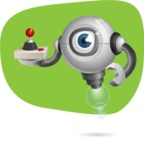 Futuristic Robot Cartoon Vector Character AKA GAR-Y - Shape11
