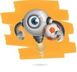 Futuristic Robot Cartoon Vector Character AKA GAR-Y - Shape12