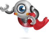 Futuristic Robot Cartoon Vector Character AKA GAR-Y - Super Robot