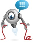 Futuristic Robot Cartoon Vector Character AKA GAR-Y - Cable