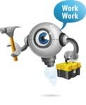 Futuristic Robot Cartoon Vector Character AKA GAR-Y - Workman 2