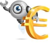 Futuristic Robot Cartoon Vector Character AKA GAR-Y - Euro