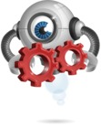 Futuristic Robot Cartoon Vector Character AKA GAR-Y - Gears