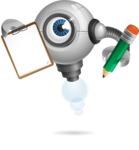 Futuristic Robot Cartoon Vector Character AKA GAR-Y - Notepad