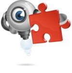 Futuristic Robot Cartoon Vector Character AKA GAR-Y - Puzzle