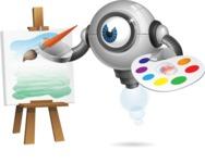 Futuristic Robot Cartoon Vector Character AKA GAR-Y - Artist