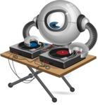 Futuristic Robot Cartoon Vector Character AKA GAR-Y - DJ