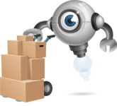 Futuristic Robot Cartoon Vector Character AKA GAR-Y - Delivery 2